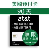 90天美國上網 - AT&T高速無限上網預付卡 (可加拿大墨西哥漫遊)